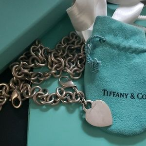 Authentic Tiffany Stirling silver heart necklace
